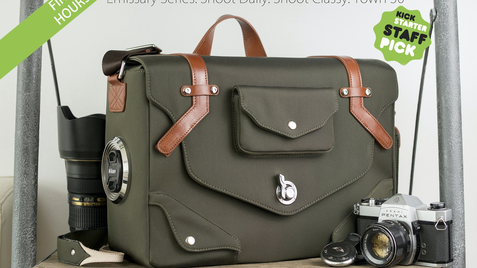 Beyond holding your gear. The Emissary directly connects you to your photography experience. Shoot daily. Shoot classy. Town 30.