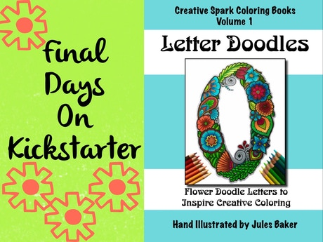 Publishing A Coloring Book Of Floral Letter Illustrations As Well Prints Greeting Cards