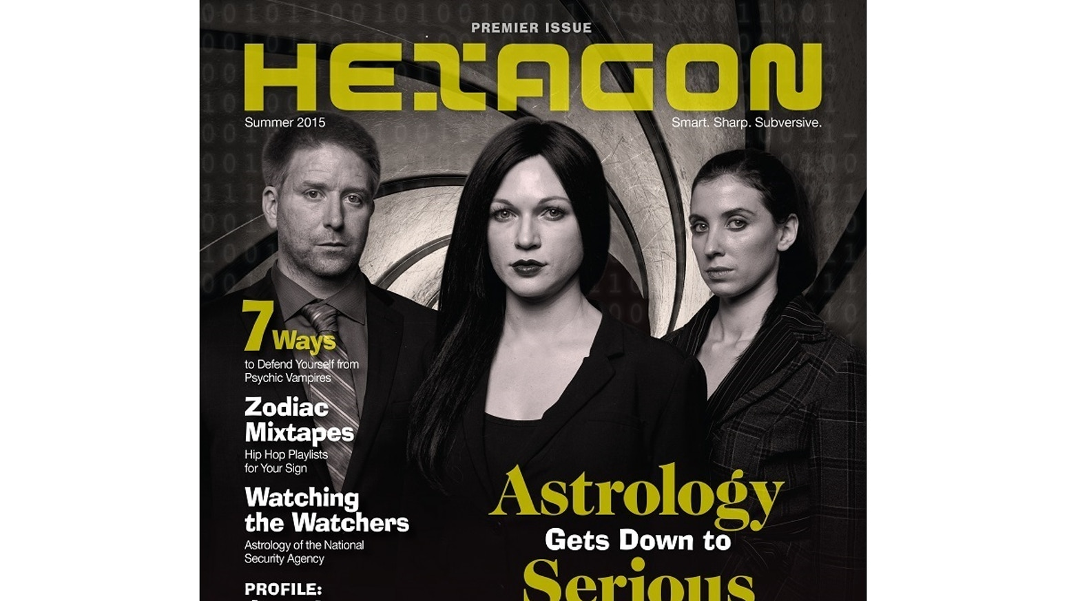 Brand new print astrology magazine designed to absolutely knock people's socks off. Smart, sharp, and with a seriously subversive edge.