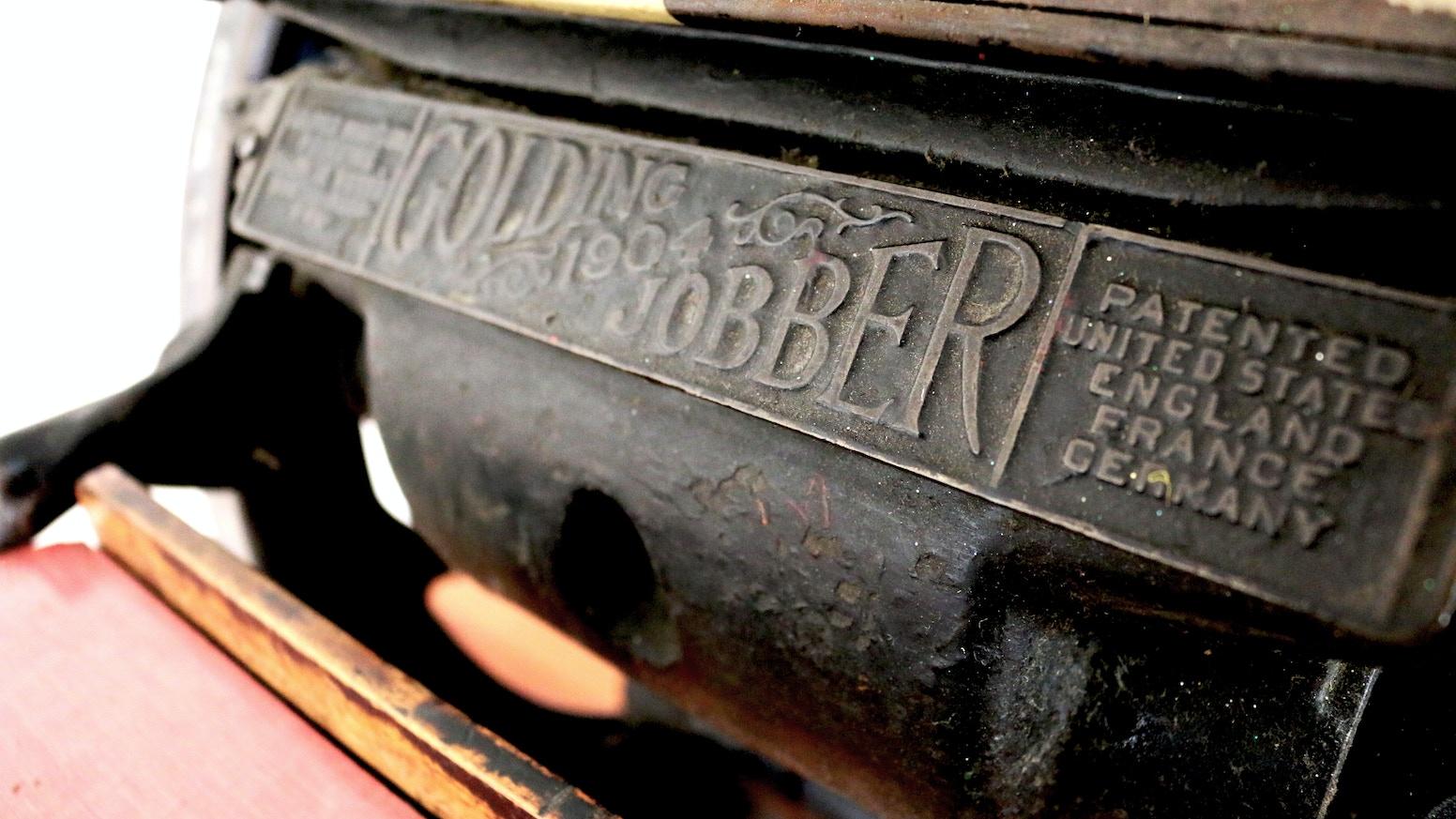 Quick Brown Fox Letterpress A Restoration Project