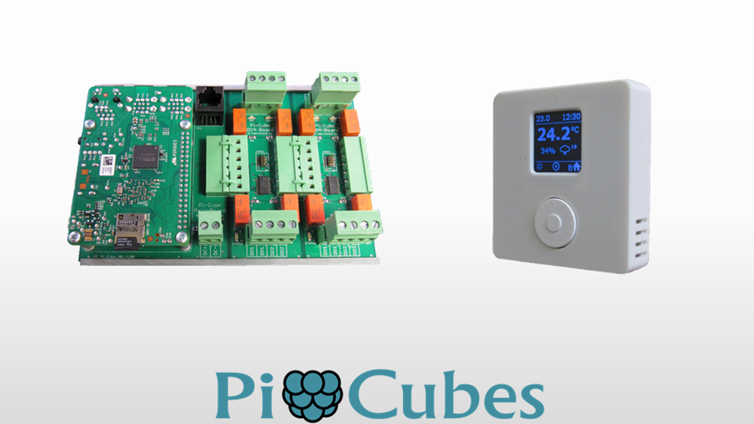 Pi Cubes is Modular DIY/Hobby HVAC Automation system based on the Raspberry Pi. Supports up to 24 I/Os and 4 Thermostats.
