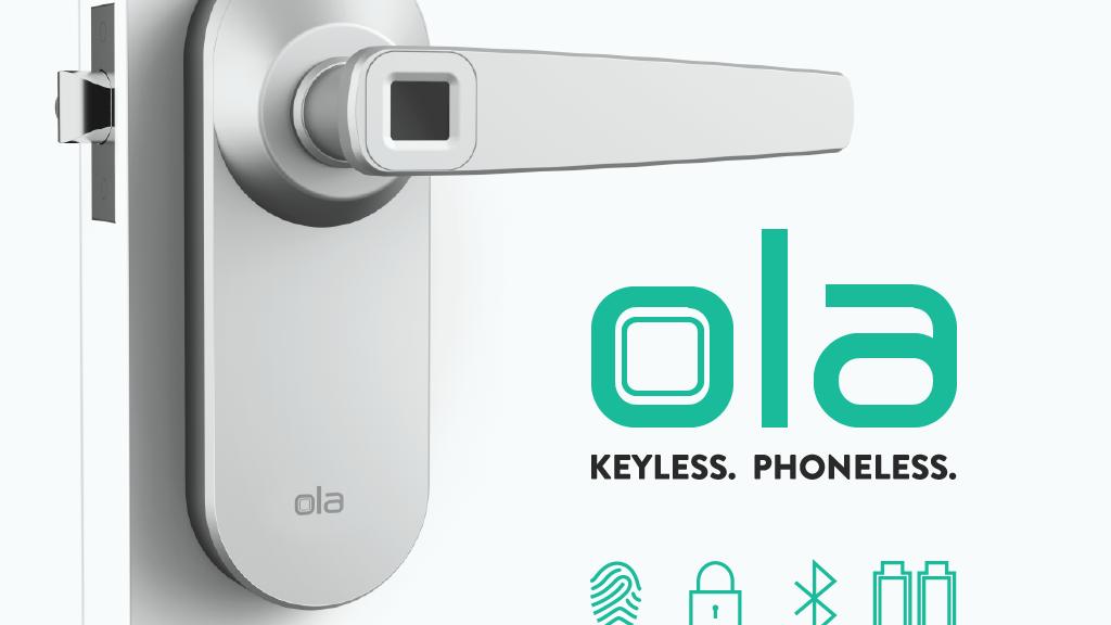 Ola fingerprint smart lock. Open the door to the future. miniatura de video del proyecto