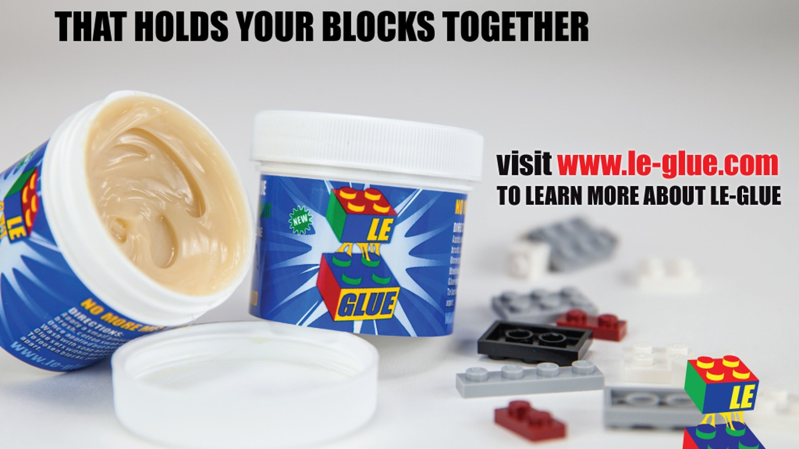 Le-Glue® - The Water Soluble Adhesive for LEGO® blocks by