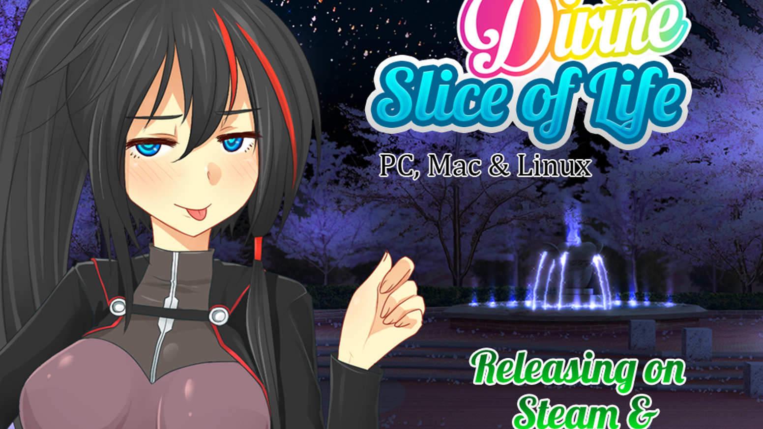 When demi-gods descend upon you to change your life forever it can only be a little Divine Slice of Life visual novel bishoujo game.