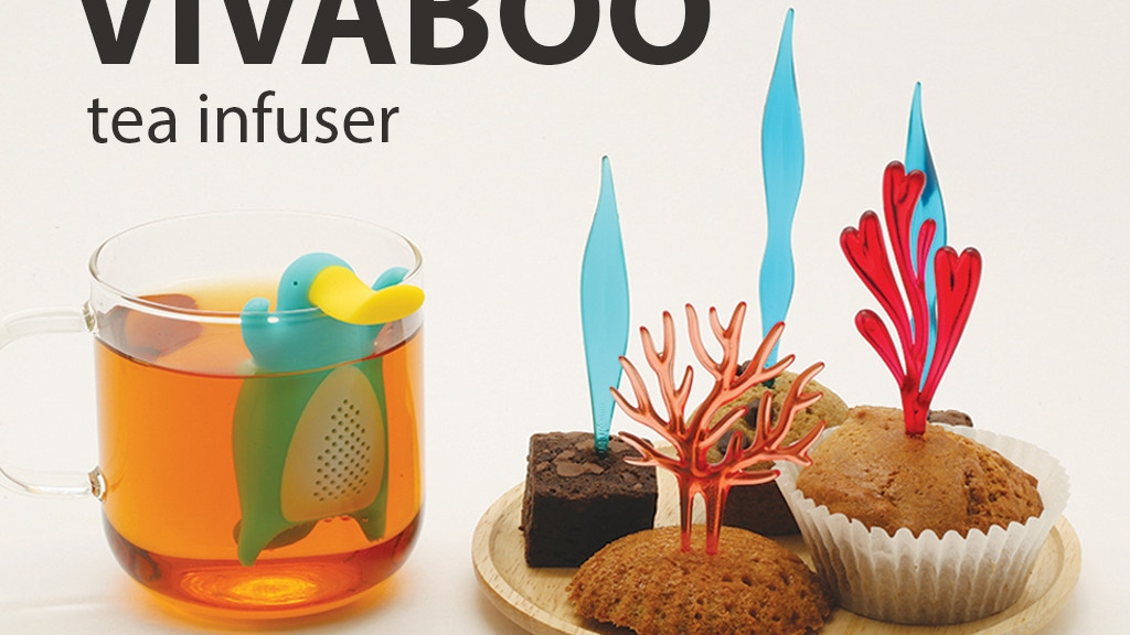 VivaBoo tea infuser and Vivid Coral Pick food pick set project video thumbnail