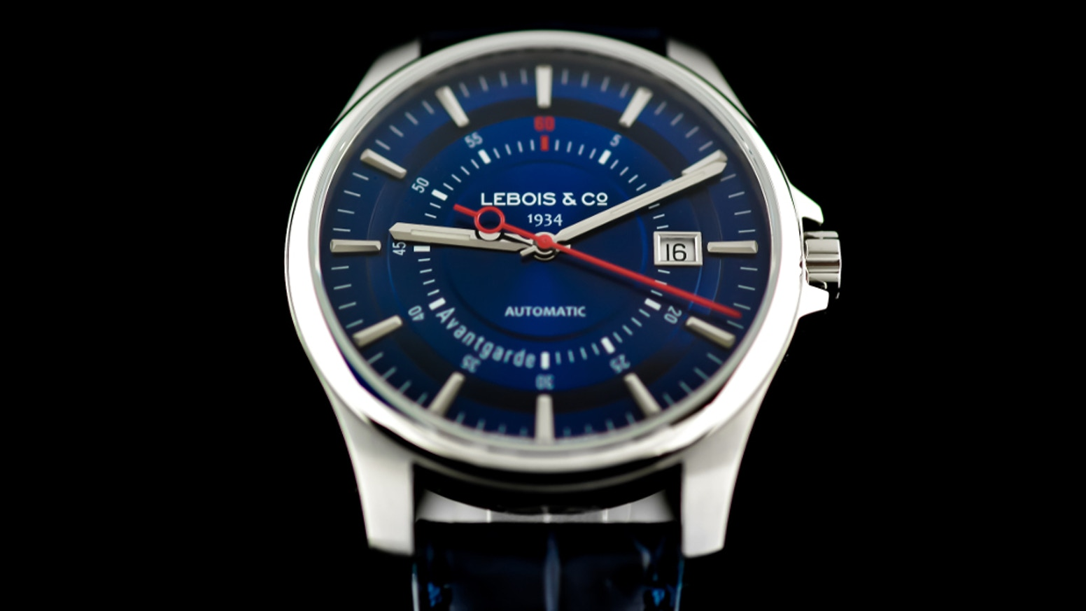 The Re-launch of 80 Year Old luxury watch brand Lebois & Co continues. Avantgarde Date - 2nd Re-launch Edition. Swiss Made, Automatic.