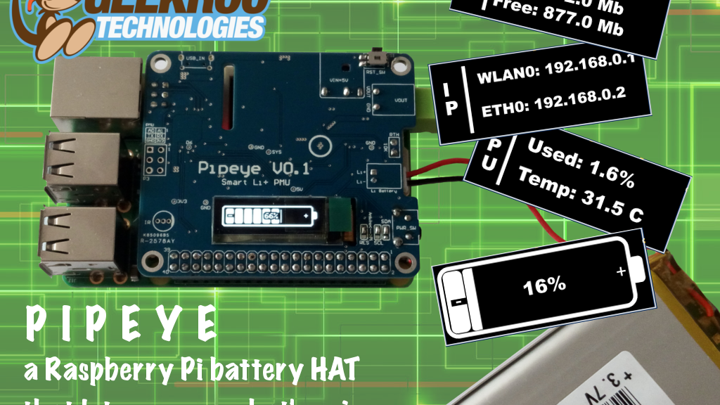 Pipeye - an Advanced Battery HAT to Power Your Raspberry Pi project video thumbnail