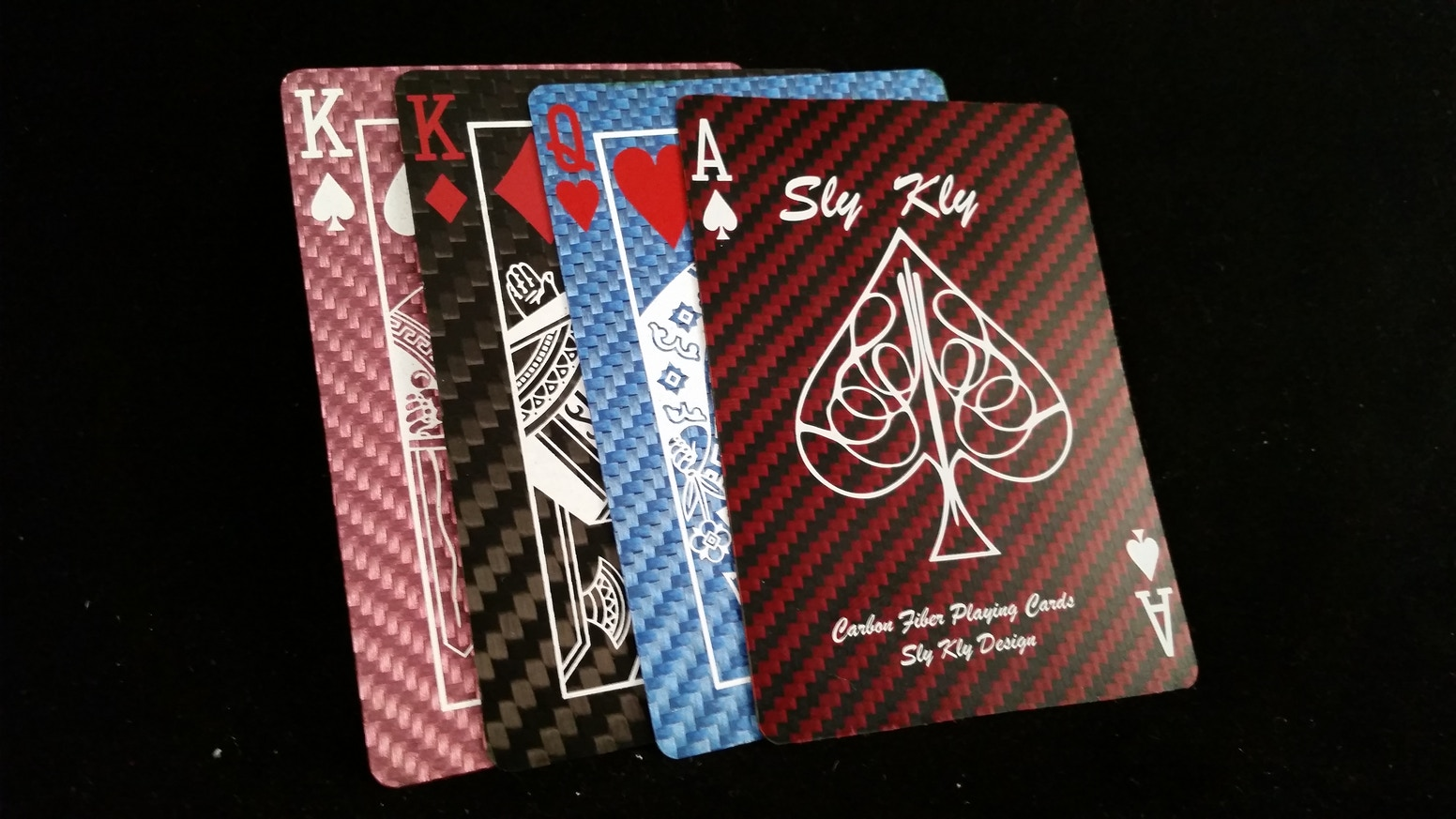 Playing Cards made from 100% Kevlar or 100% Carbon Fiber!  Made to last a Lifetime!...and take a Bullet!
