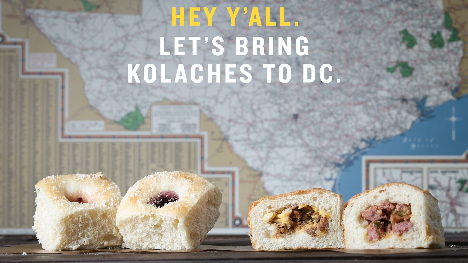 The kolache is a Czech-Texan pastry filled with fruits, sausages, & other awesome stuff. We're bringing 'em to DC but need your help.