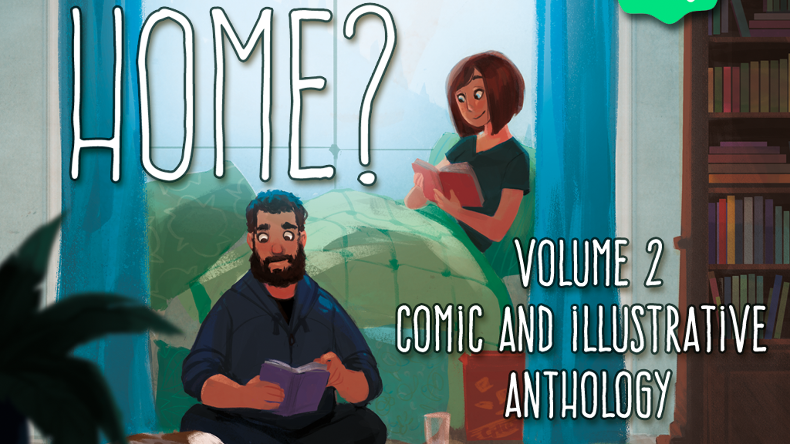 The theme 'Where is home?' is explored by 35 artists in the second volume of this printed anthology through comics and illustrations.