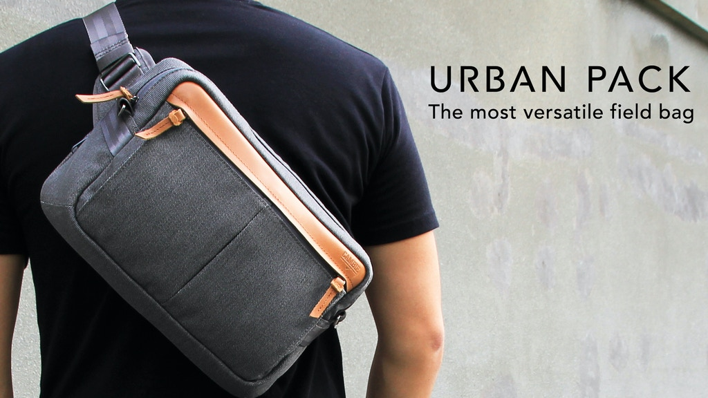 9d48351cb533 URBAN PACK - A versatile 4-in-1 minimalist field bag. project video