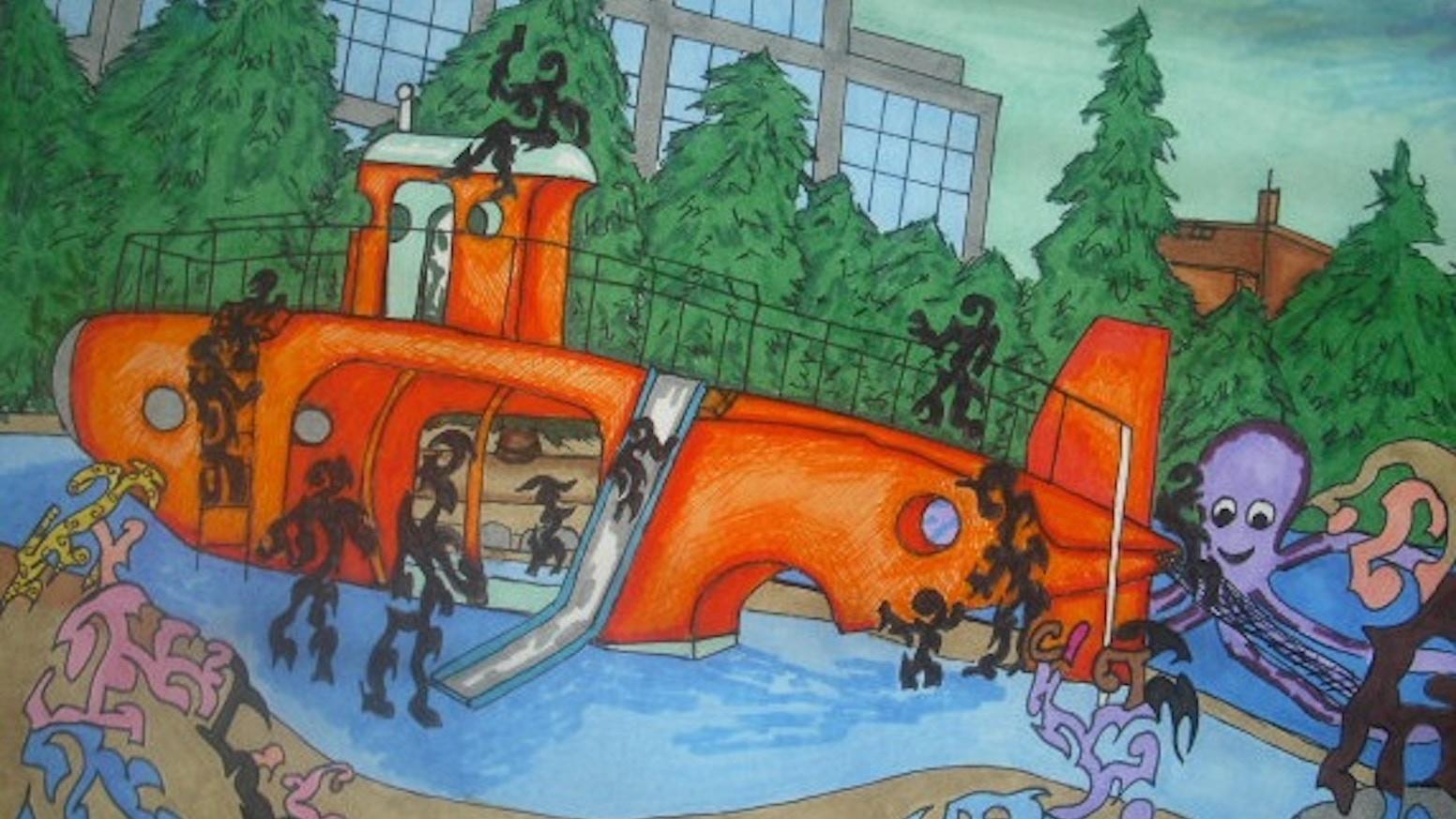 Original art from 1 dollar by crystal parker kickstarter