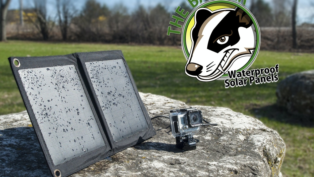 The Badger: Waterproof USB Solar Charger project video thumbnail