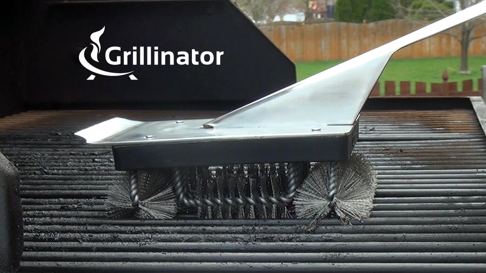 Cleans incredibly fast & built like a tank. It's the world's first BBQ grill brush that doesn't completely suck. Order yours today.