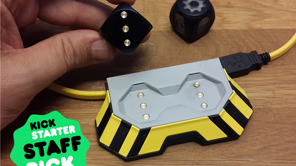 Boogie Dice - Self rolling, sound activated gaming dice! project video thumbnail