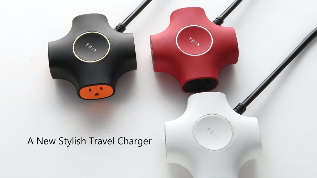 TRIX- The new stylish travel power strip with USB charger project video thumbnail
