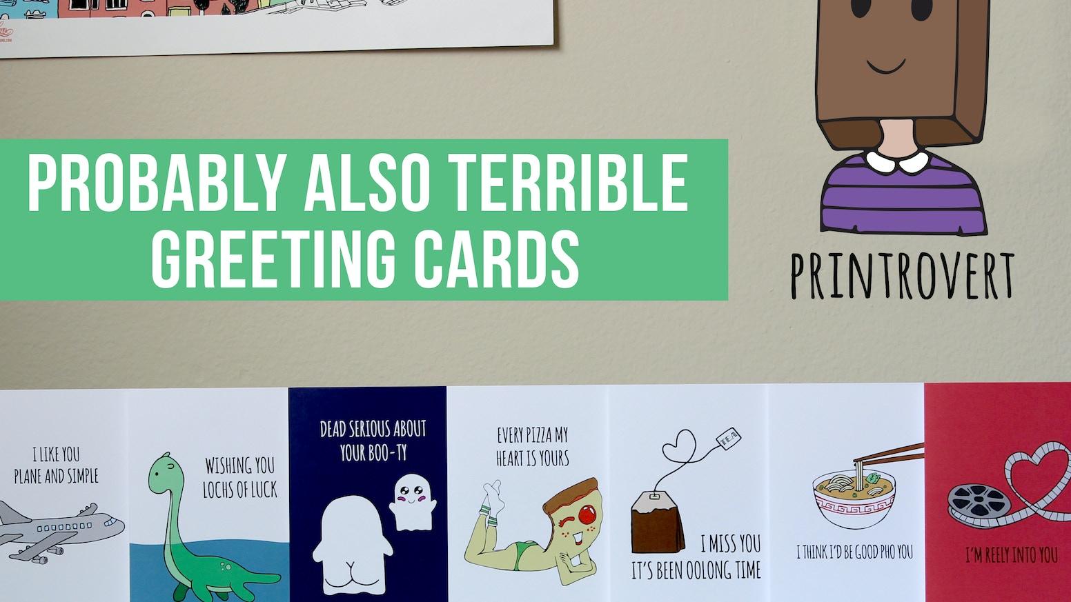 Printrovert Cards Art Prints By Juliet Amsalem Kickstarter