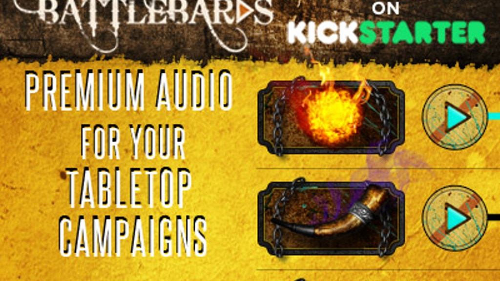 BattleBards - Epic Fantasy Audio & Tools For Tabletop RPGs project video thumbnail