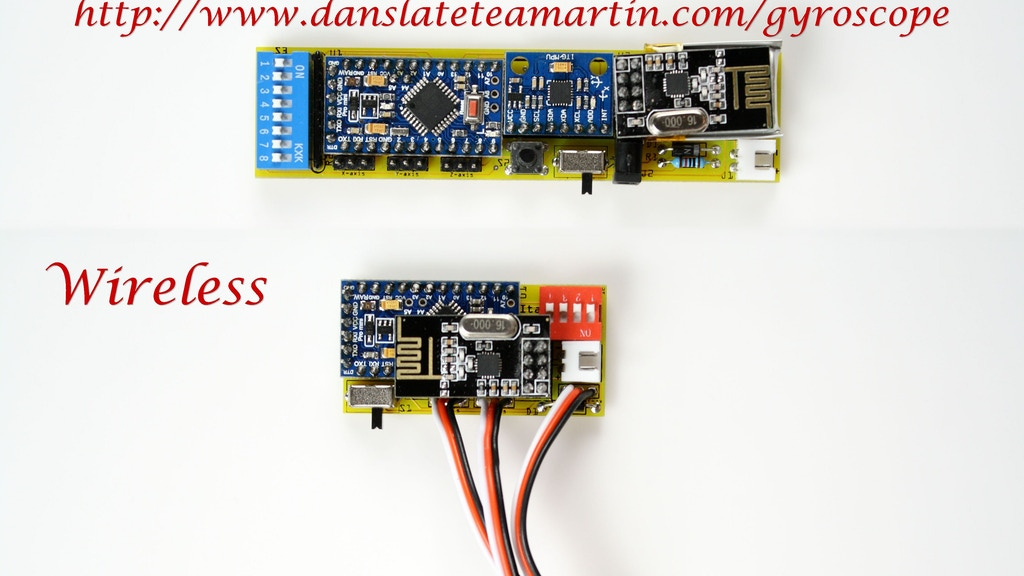 Gyroscope Sensor for FPV Head Tracking, Robotics and More project video thumbnail