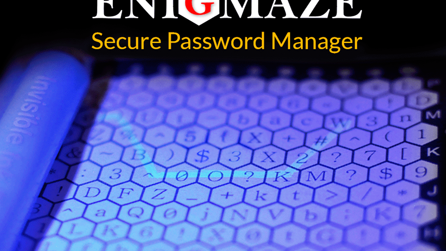 Enigmaze is a Premium Hardcover Notebook Specifically Designed to Quickly Create and SECURELY Store Strong Passwords.