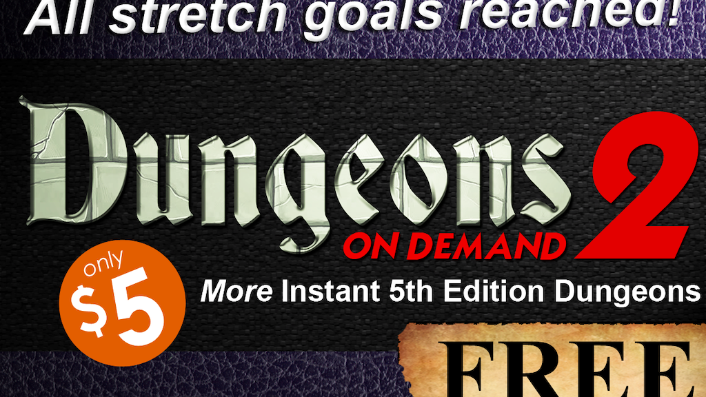 Dungeons On Demand: Volume 2 - 5E DnD Dungeon Adventures project video thumbnail