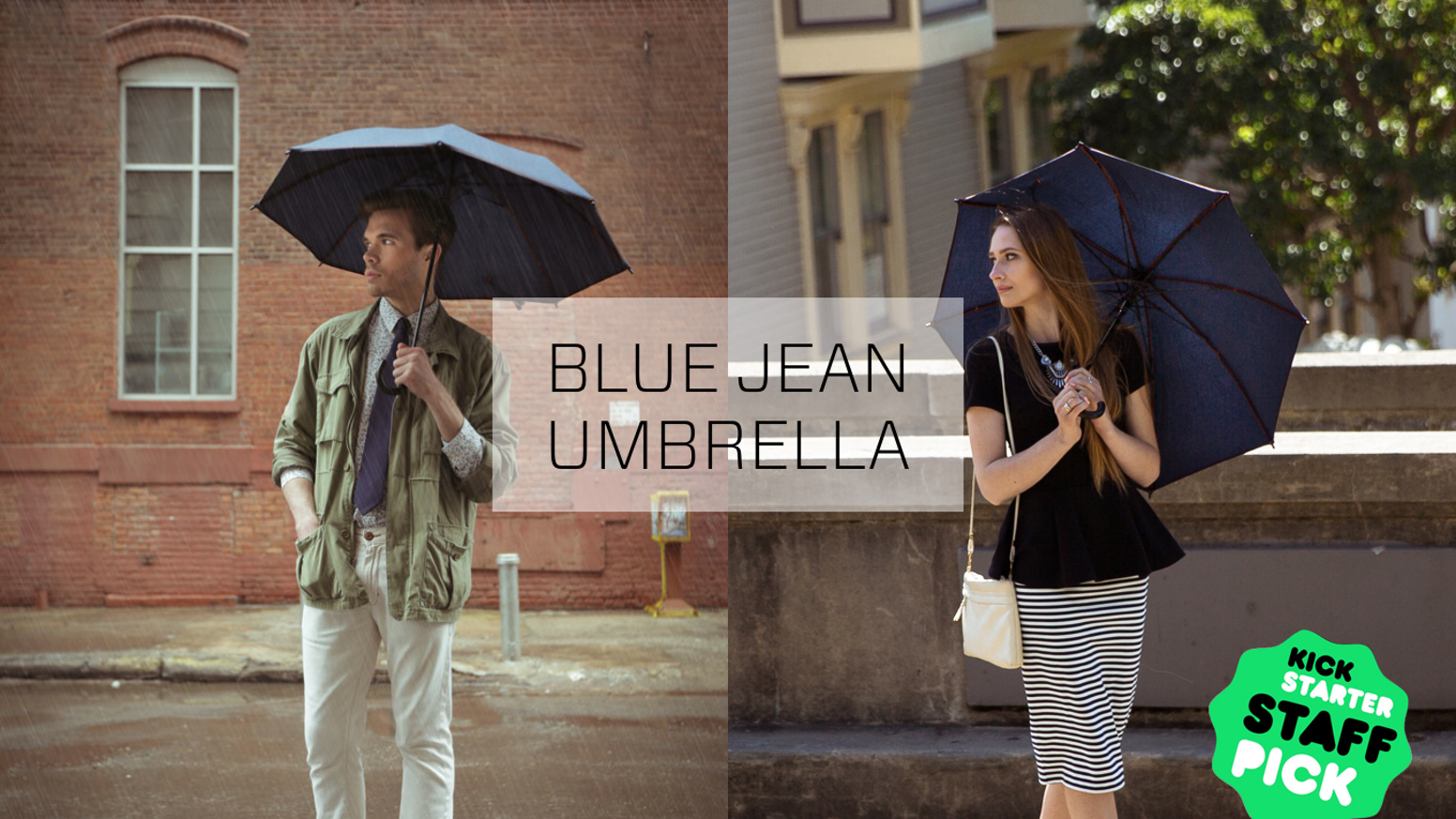 The first personal umbrella made from high-tech Sunbrella™ fabric to block both rain and harmful UV rays