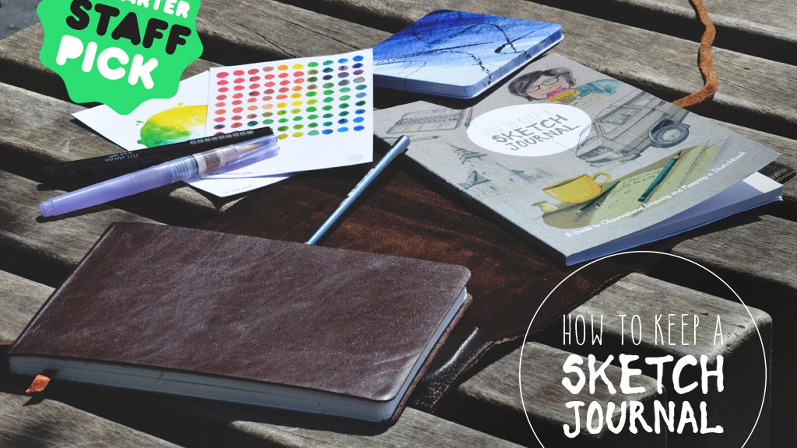 A travel-sized artistic solution to enable you to carry the tools, inspiration & advice you need to keep a daily record of your life