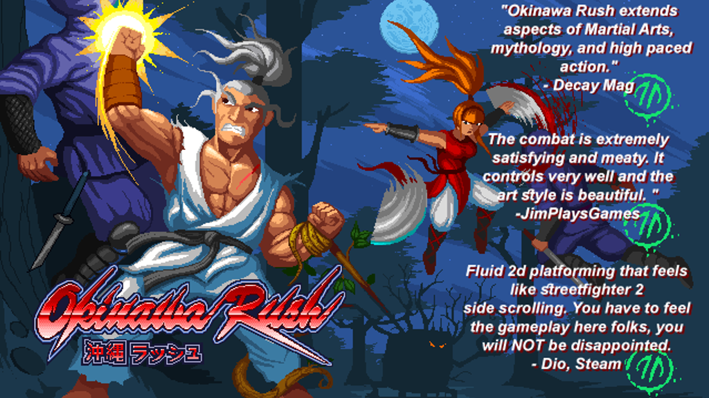 Okinawa Rush - a platform/fighting game with RPG elements. project video thumbnail