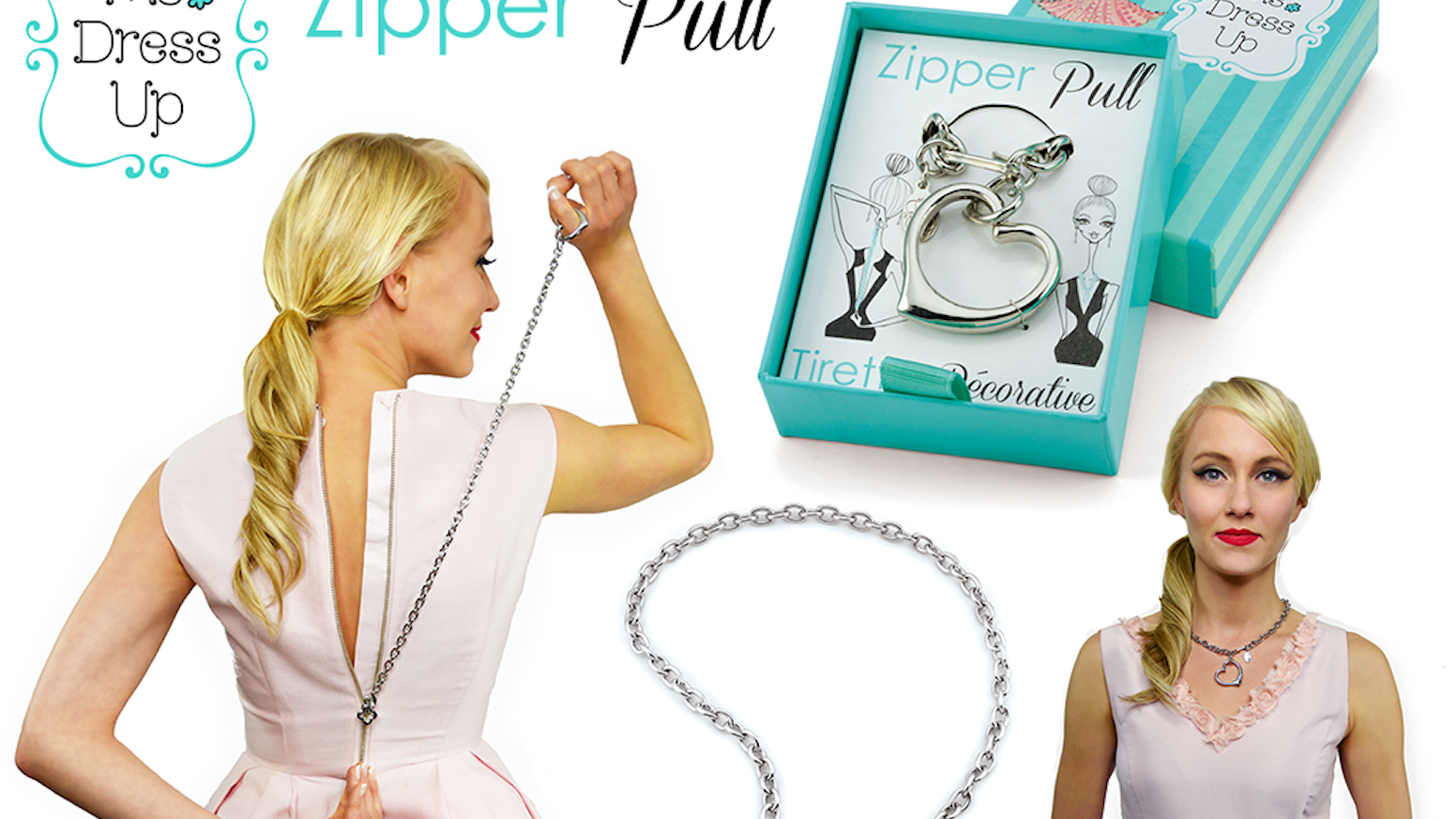Zip yourself up, then wear as an elegant necklace!