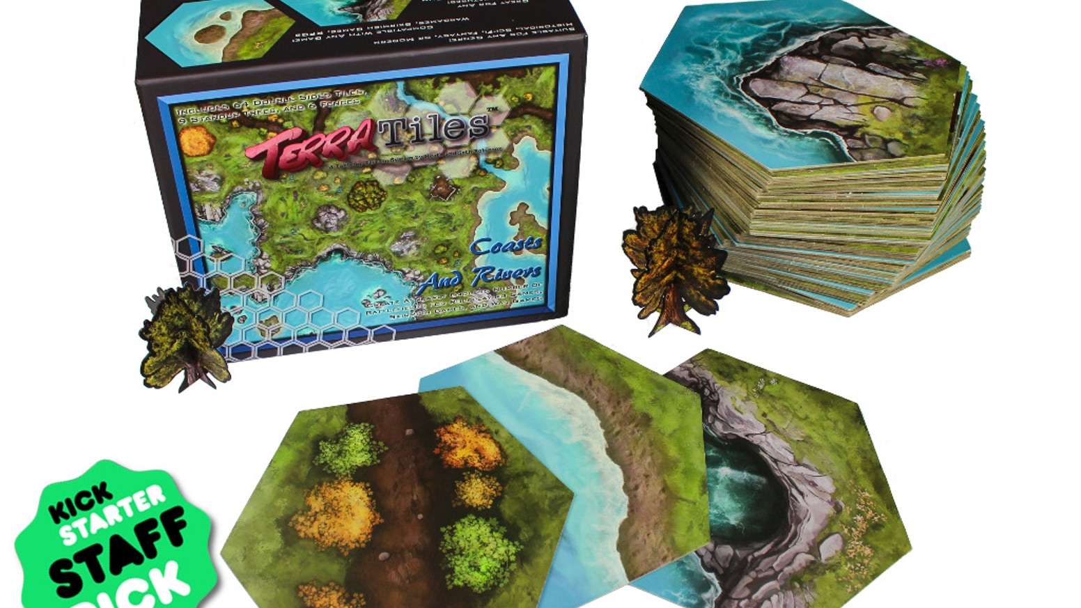 A Tabletop Terrain System for Miniature Games, Wargames, and RPGs. Affordable, Portable, and Easy to Store - Covers 24 Square Feet!