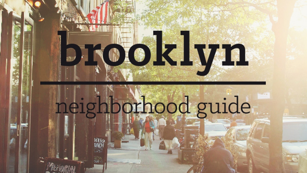 Brooklyn Neighborhood Guide project video thumbnail