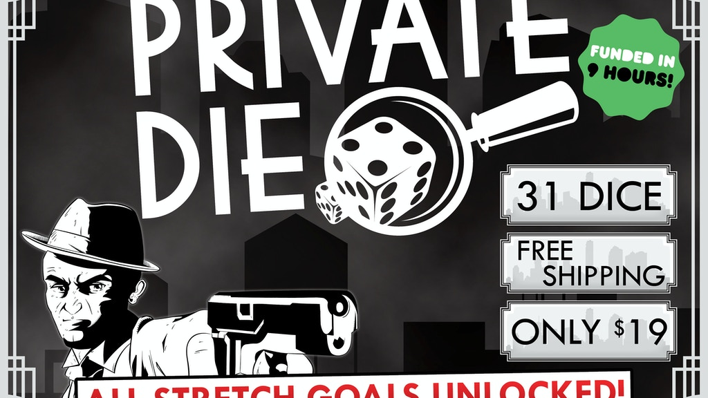 Private Die: A Noir Dice Game RELAUNCH project video thumbnail