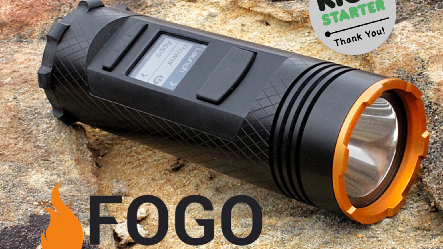With a rugged walkie-talkie, flashlight, GPS, bluetooth, and USB backup battery, the Fogo is the Ultimate Adventure Gadget!