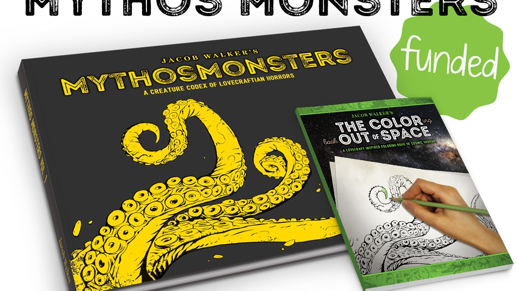 MythosMonsters - A Lovecraft Art Book & Coloring Book project video thumbnail