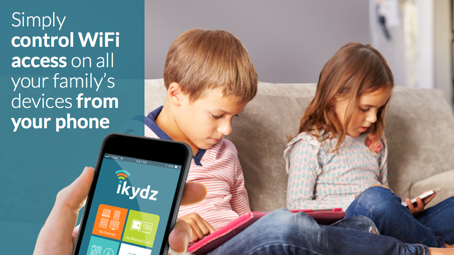 """Rethink your home internet management, children's safety and security with iKydz your internet zapper""!"