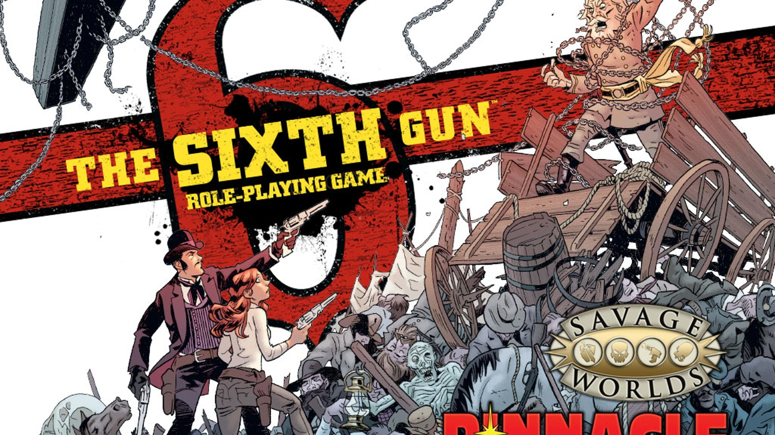 From the King of the Weird Western—Pinnacle—and Oni Press: The Sixth Gun Savage Worlds RPG!