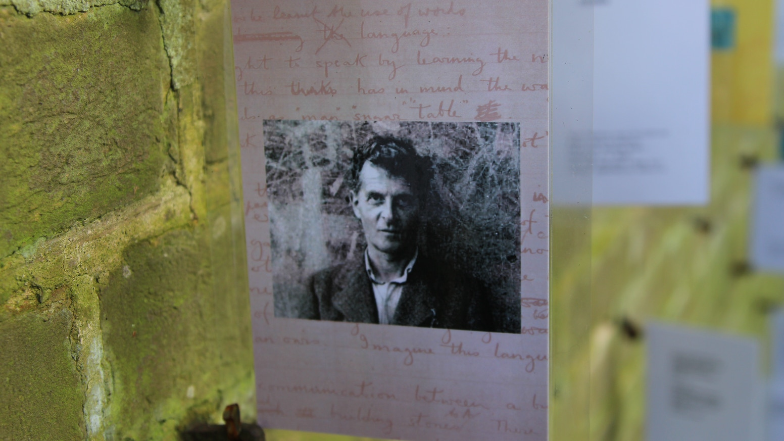 A unique exhibition of visual and text art connected with the philosophy of Ludwig Wittgenstein.