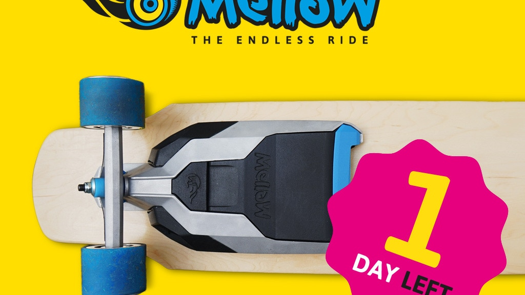 Mellow – The Electric Drive that fits under every Skateboard Project-Video-Thumbnail