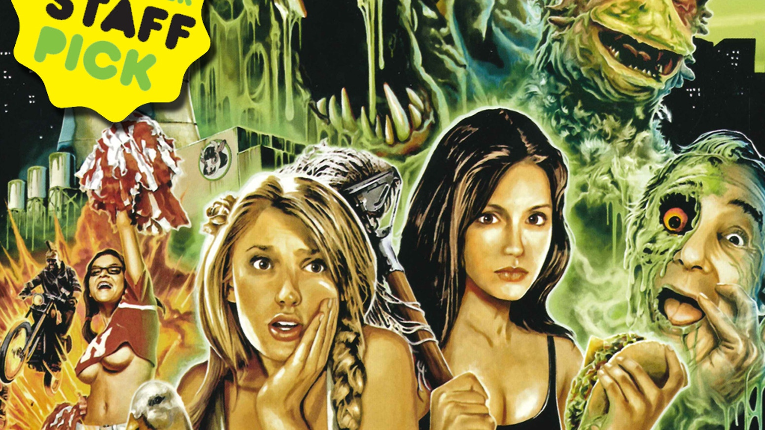 """Troma's """"Return to Nuke 'Em High: Volume 2"""" is a film that tackles 21st century issues in the style of 1980s genre films!"""