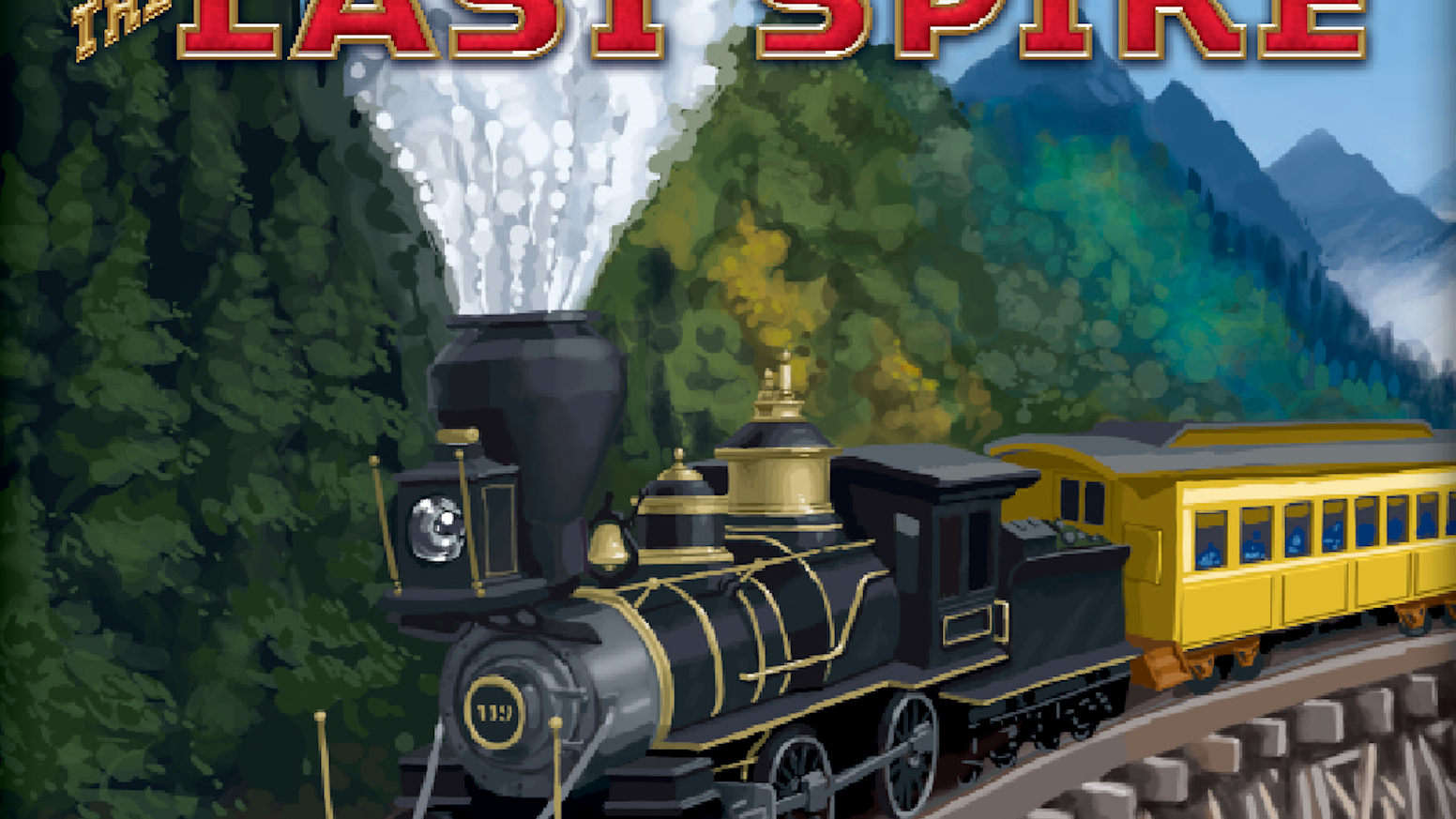 "Players CO-OPERATE to build the Trans-Continental railway and COMPETE to profit from land speculation before the ""last spike"" is laid. Order at:         http://columbiagames.com/lastspike/"