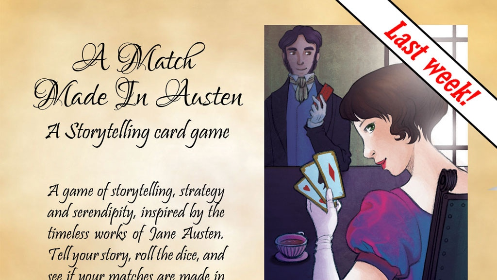 A Match Made In Austen: a storytelling card game project video thumbnail