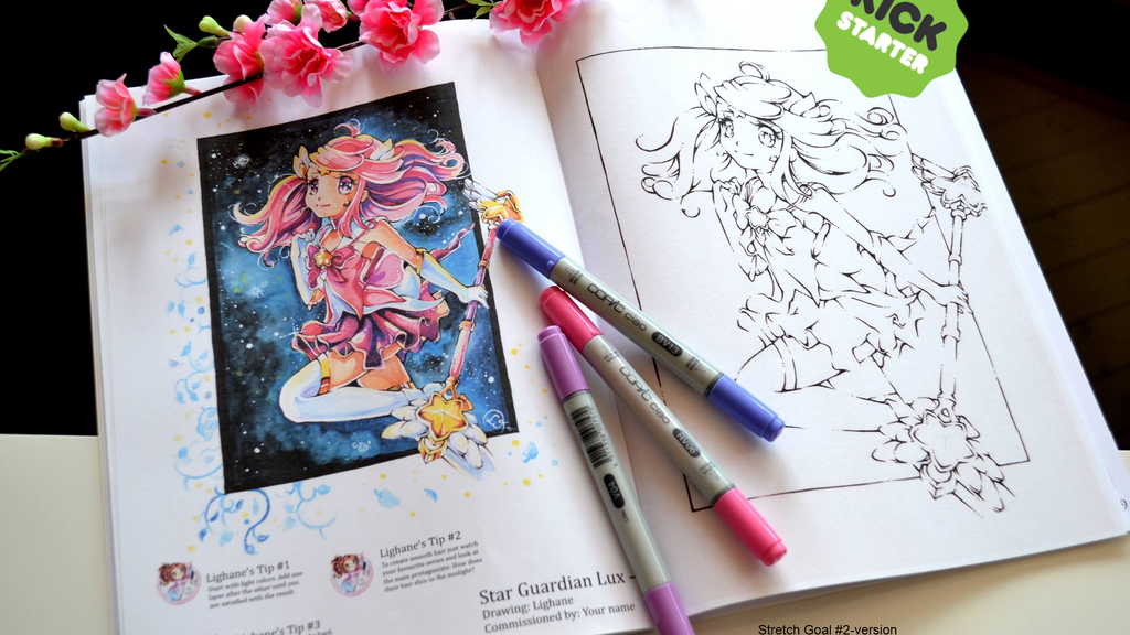 Lighane's Kawaii Coloring Book By Lisa Saukel —Kickstarter