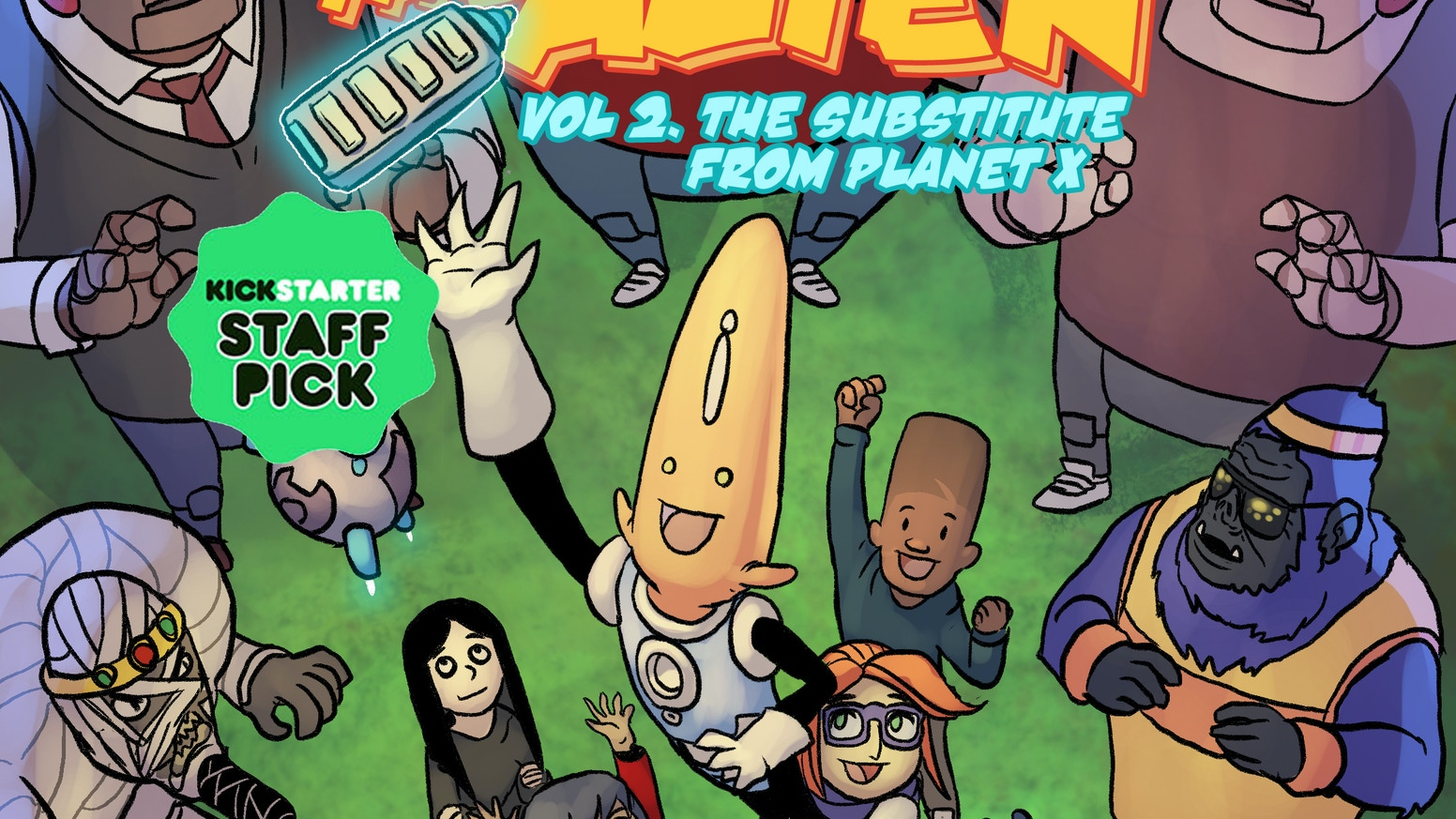 Albert the Alien is the first foreign exchange student from another planet...and someone is trying to get him expelled!