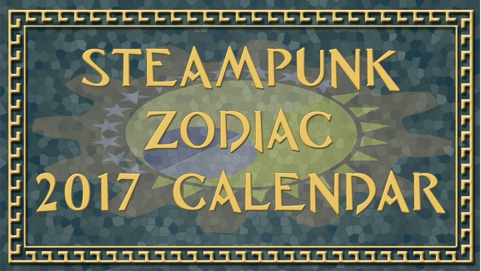Decorate your wall with the zodiac done up à la steampunk style. Gear up and ready your steam engines for those 2017 goals!
