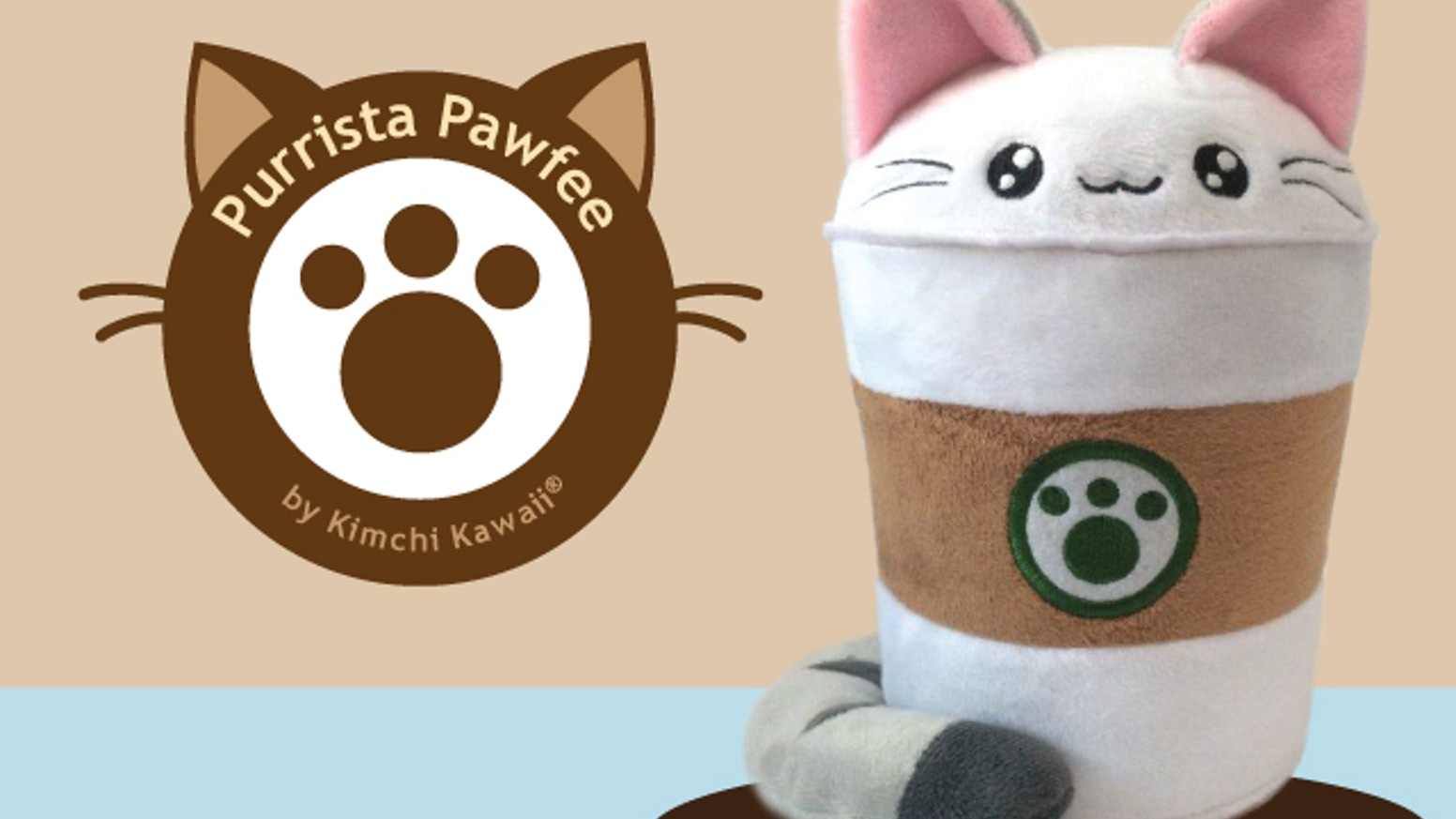 Purrista Pawfee is a series of cute plush toys that combine coffee culture, word play and cats. By Kimchi Kawaii.