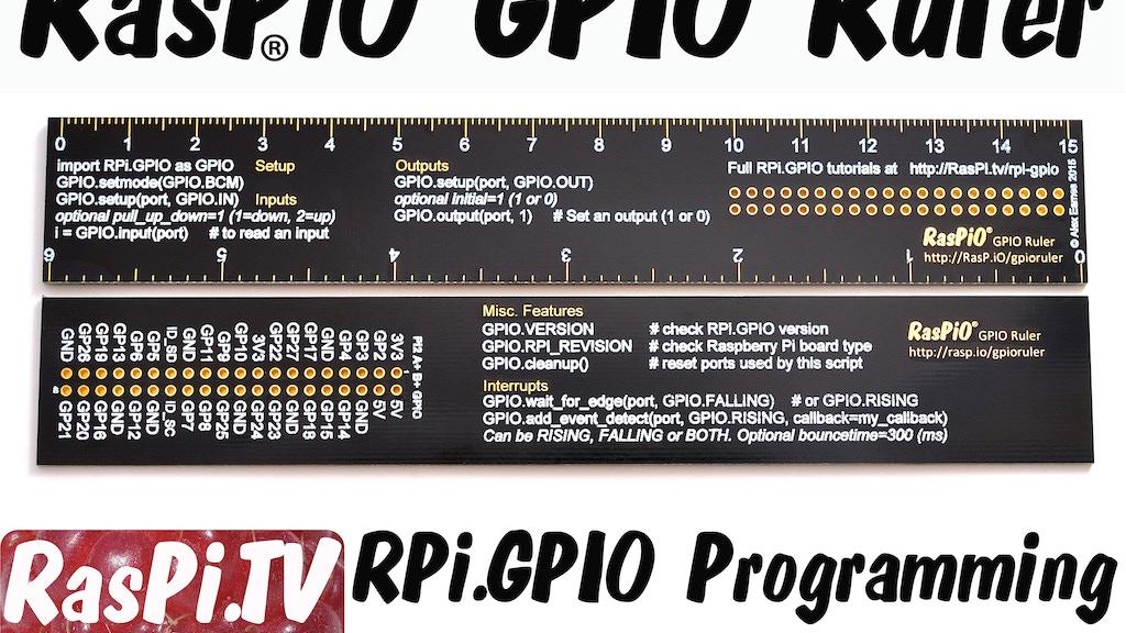 RasPiO GPIO Quick Reference Ruler for Raspberry Pi RPi.GPIO project video thumbnail