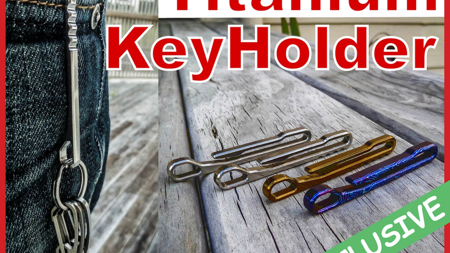*NEW*... Possibly The World's Greatest Titanium Keyholder For Everyday Carry EDC...  Your Friends Will Envy You... GUARANTEED!