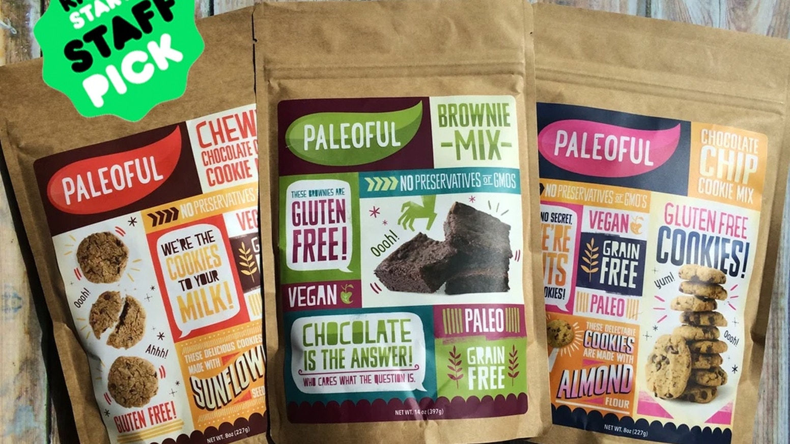 Paleo-friendly baking mixes that are gluten-free, grain-free, vegan (egg/dairy-free), soy-free, preservative-free, and non-GMO.