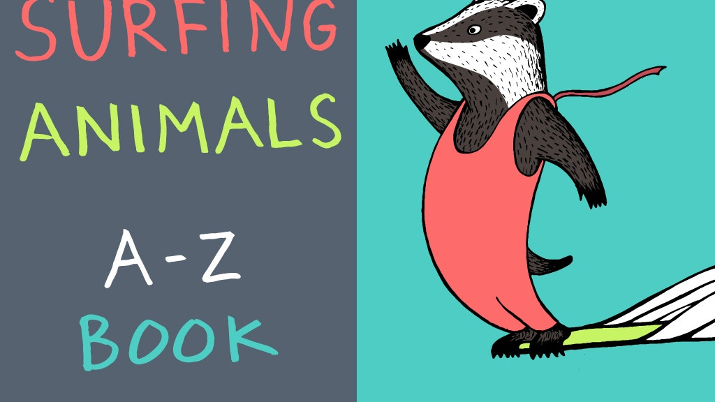 Surfing Animals A-Z Children's book project video thumbnail