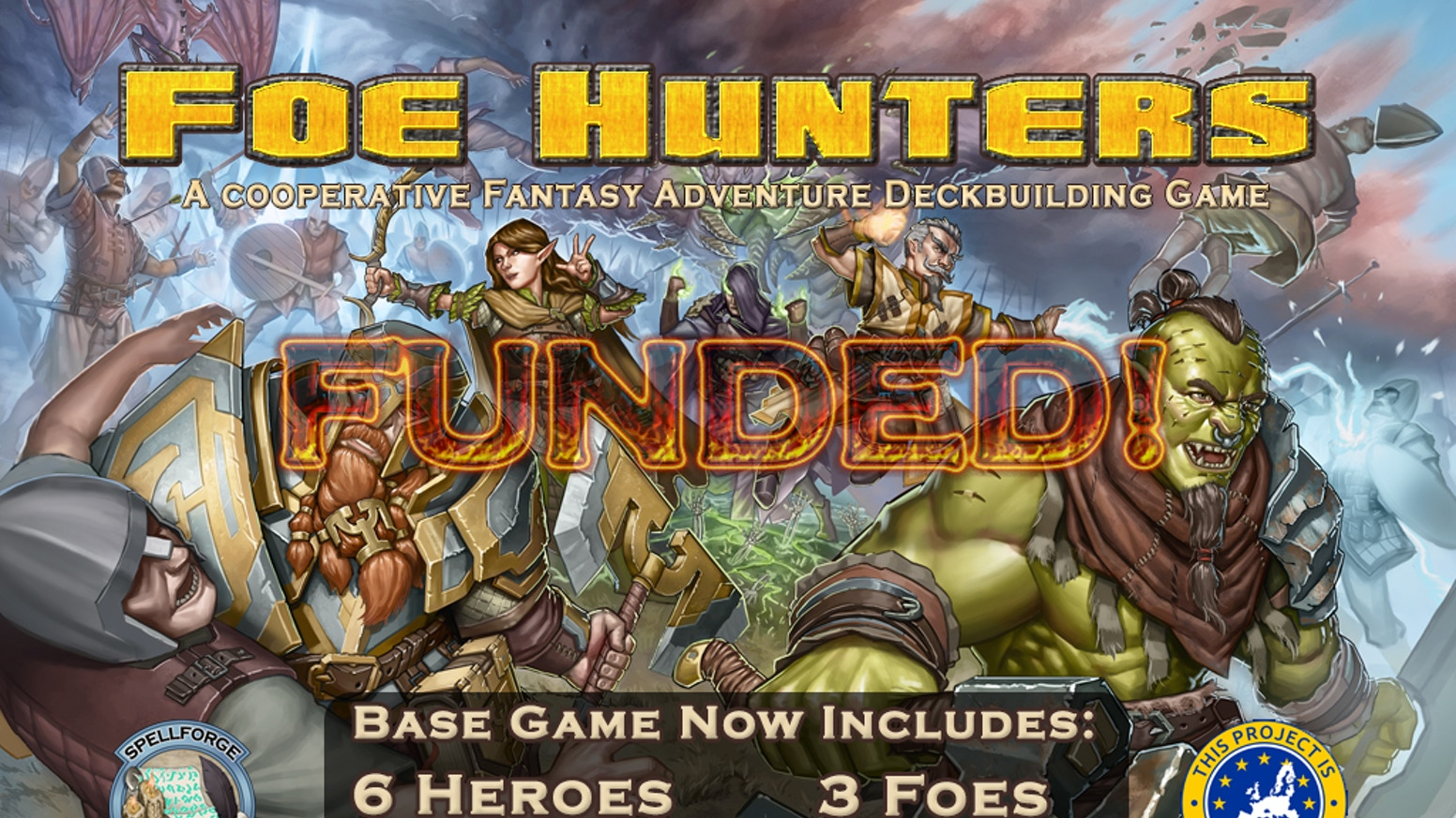 Foe Hunters is an exciting cooperative, multiplayer deckbuilding/adventure game set in the realm of high fantasy!